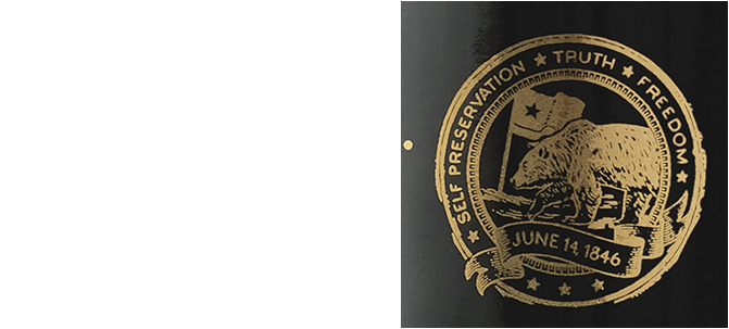 Our seal pays tribute to California where Bear Flag Revolt inspired our brand and Zinfandel on the label
